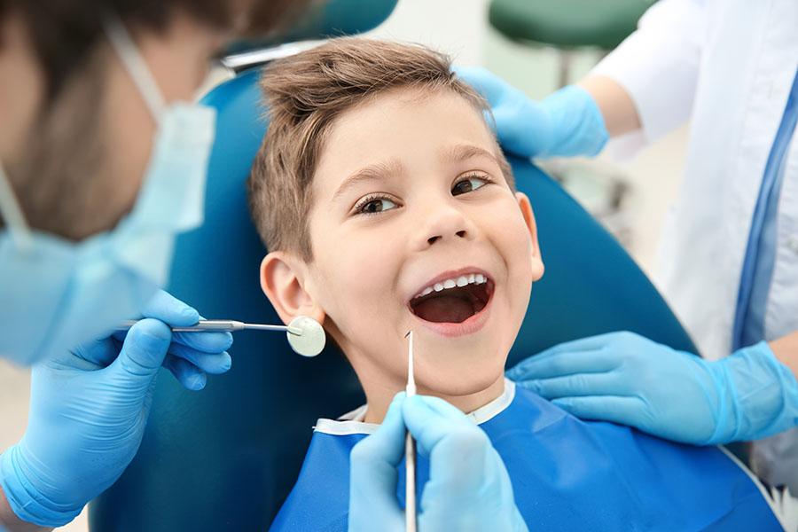 kid about to undergo a dental procedure